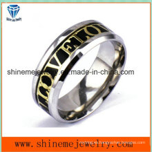 Joyería del cuerpo de acero inoxidable de moda incrustada anillo (ssr2788)