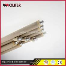 Tubo de papel de 800 mm Conector de triângulo 604 Termopar de imersão descartable para forno de fusão de alumínio