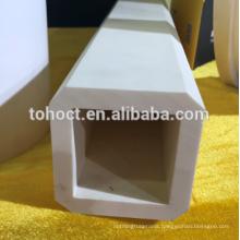 Square end hole 99% Al2o3 alumina ceramic pupe tube