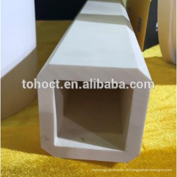 Quadratisches Endloch 99% Al2o3 Aluminiumoxid-Keramik-Pube-Rohr