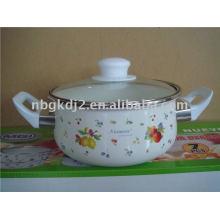 enamel casserole with glass lid