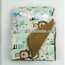 Animal caliente diseños niños mantas bebés Sherpa