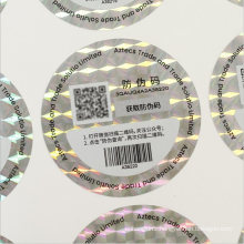 3D Custom Hologram Sticker with Qr Code & Serial Number & Scannable Barcode Numbers