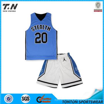 2015 Uniformes reversíveis quentes do basquetebol da sublimação feita sob encomenda da venda