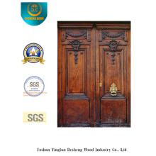 Puerta de seguridad doble estilo europeo con talla (m2-1007)