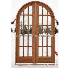 Round Top Double Frech Door with Glass