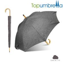 2018 Nouveau hotsale noir Melange igname texture parapluies en bois 2018 Nouveau hotsale noir Melange igname texture parapluies en bois