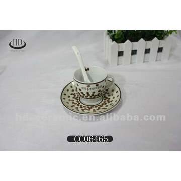 decal cup with saucer porcelain