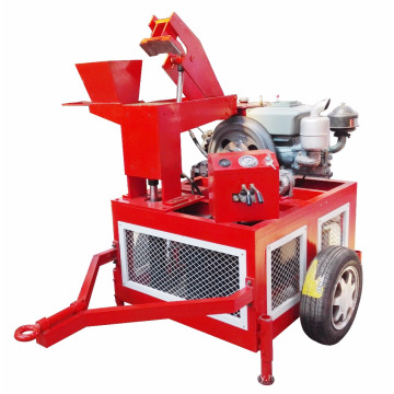 Movable interlocking clay brick making machine small diesel manufacturing plant in South Africa