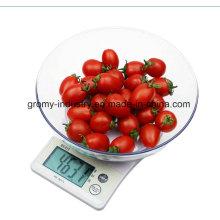 LCD Display Digital cozinha escala com ABS bacia B10W