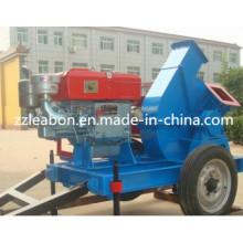 Machine mobile de broyeur de bois de moteur diesel