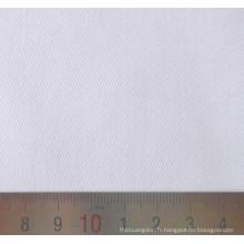 Eau de Javel, Sergé coton Polyester blanc T/C tissu tissé