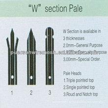 Fabricación de vallas de palisade de alta calidad D o W Pales