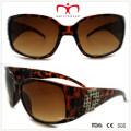 Plastic Ladies Sunglasses with Rhinestone (WSP508362)