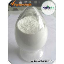 Enzima rumiante alfa-galactosidasa como agente saludable