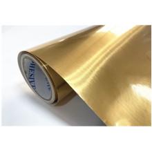 Пленка ПЭТ с металлической щеткой высокого качества с золотым покрытием
