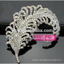 Vintage Blatt Scatter Kristall Pin Brosche
