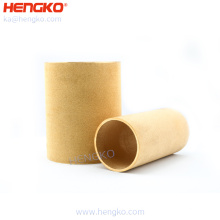 High temperature resistance sintered bronze porous metal filter tube for water  filtration