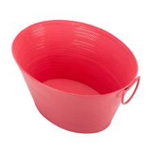 Baignoire de fête de forme ovale en acier galvanisé rose