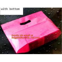 Multi Color Plastic Merchandise Bags Handle Retail Gift Party Bags, Vivid Color Wedding Favors Party Bags Plastic