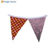 wholesale polyester flags bunting triangle shape