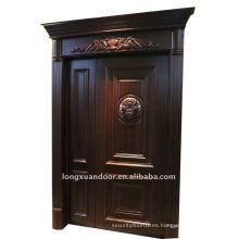 Puerta compuesta de madera maciza y puerta de madera contrachapada