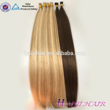 6A, 7A, 8A 100% human hair high quality popular cheap wholesale 0.5/0.8/1.0g i tip hair extension european