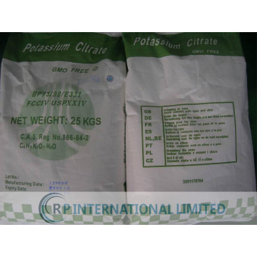 Food Additives Potassium Citrate at competitive Price
