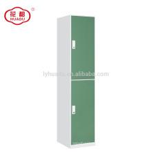 luoyang huadu aço mobiliário de escritório 2 porta estudante roupas armário de armazenamento armário