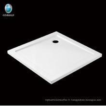 Receveur de douche d'angle économique carré en acrylique