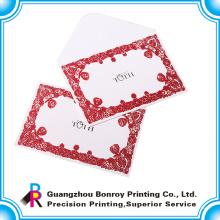 Papel compensado hermosos sobres de tarjetas de felicitación para Navidad