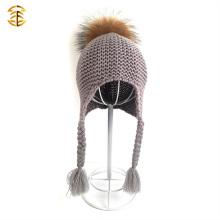 2017 Vente en gros chapeaux en laine de crochet en laine de pomme pour bébé