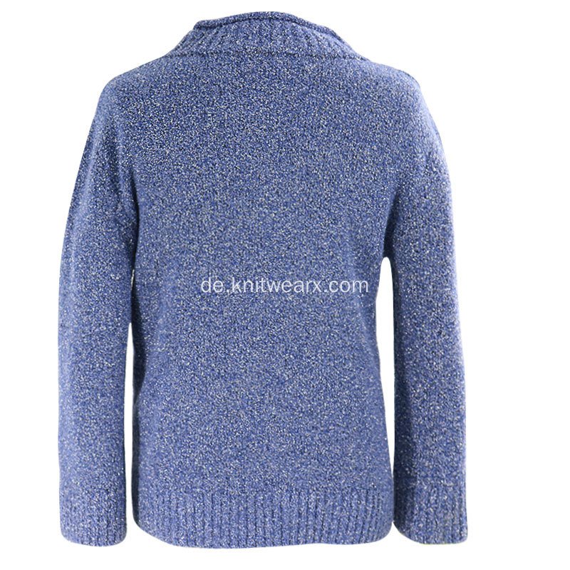 Boy's Knitted Roll Neck Pullover Kabel Pullover Tops