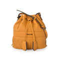Beiläufige Angelegenheit Drawstring Medium Fringe Bucket Bag Camel