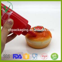 Cozinha de qualidade alimentar use molho vazio espremer garrafa de plástico com tampa de rosca