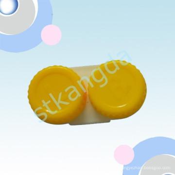 Caixa plástica personalizada das lentes de contato / caixa transparente do recipiente