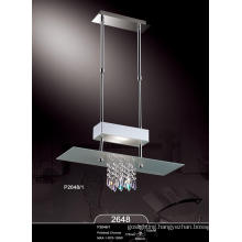 Elegant Modern Crystal Polished Chrome Hot Sell Pendant Lamp (P2648-1)