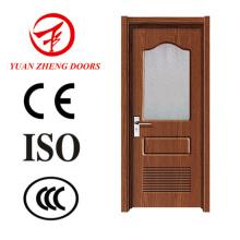 Fornecedor de China Projetos de porta de madeira Hotel porta Porta de vidro