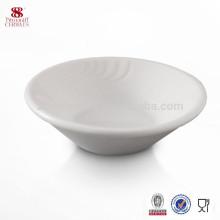 Fournitures d'hôtel en porcelaine de soja ronde en céramique plat de cuisson