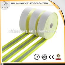 Cinta reflectante resistente a la llama de alta calidad, cinta reflectante ignífuga Nomex, cinta reflectante resistente a la llama amarilla