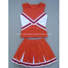 2017 Cheerleading Double Knit Uniform Tops und Röcke