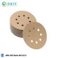Gancho revestido do óxido de alumínio de 100mm e disco de papel de lixamento do laço para o uso do metal e da madeira
