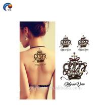 La última etiqueta engomada temporal personalizada del tatuaje del cuerpo, etiqueta engomada falsa de las flores de la decoración con el mejor precio