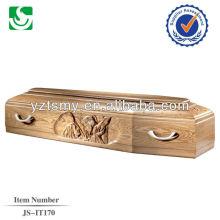 certains cercueils en bois italiens avec lits belle sculpture