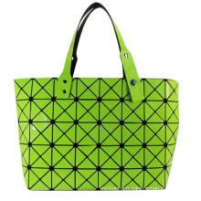 Fashion Magic Cube vert PU sac fourre-tout pour les femmes cosmétiques