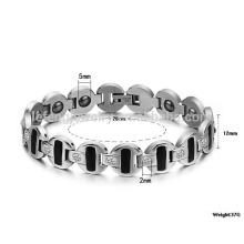 Nouveaux bijoux de bracelet personnalisé, bracelet relié à la terre, bracelet de chaîne épaisse des hommes
