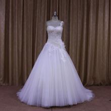 Asymmetric One-Shoulder A-Line Bridal Dress