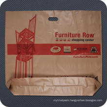 Plastic Promotional Die Cut Handle Bag with Bottom Gusset