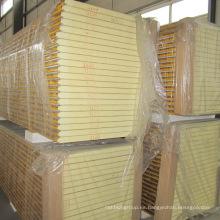 Panel sándwich de aislamiento térmico de poliuretano para panel de pared