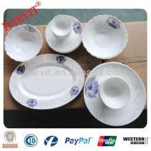 Dubai & Turkish Use Handmade Opal Glassware Tableware Dinnerware Dishes Plates Bowls With Hand Made Paintings